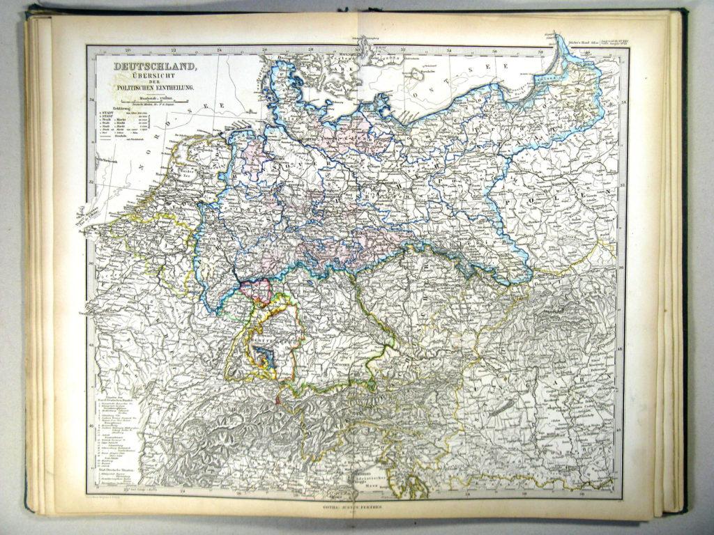 Карта Германии, 1867 г.