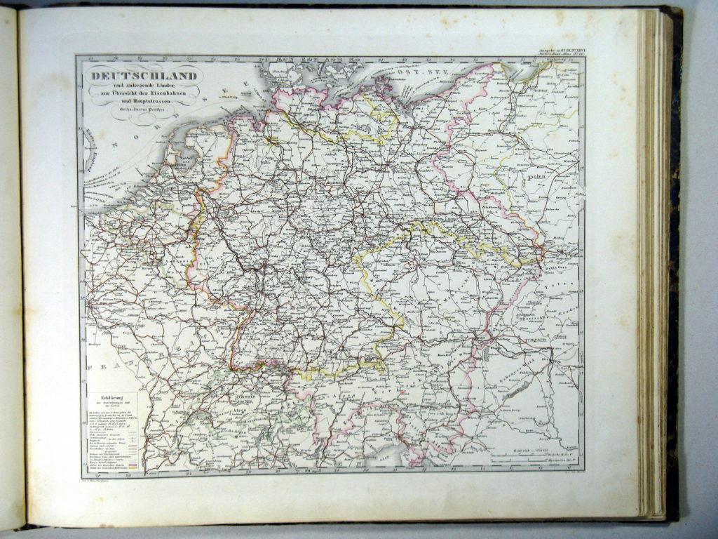Карта Германии, 1864 г.