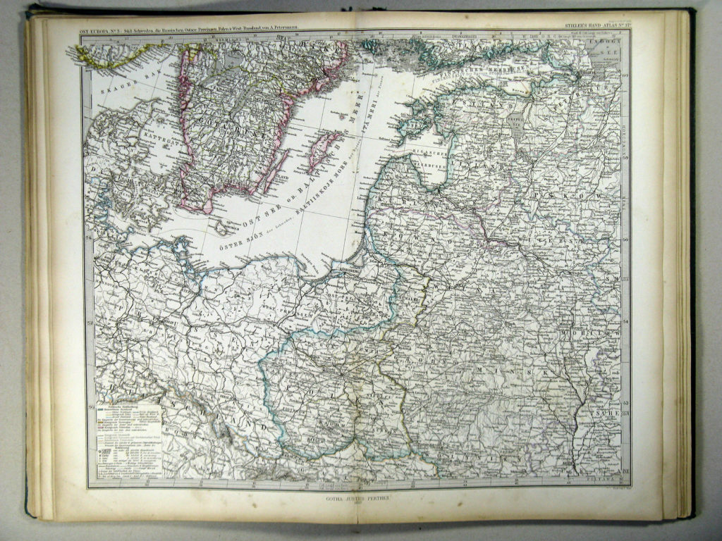 Карта Польши, 1867 г.