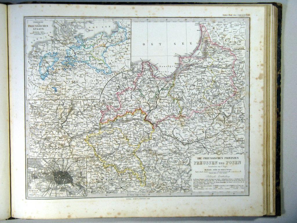 Карта Пруссии, 1864 г.