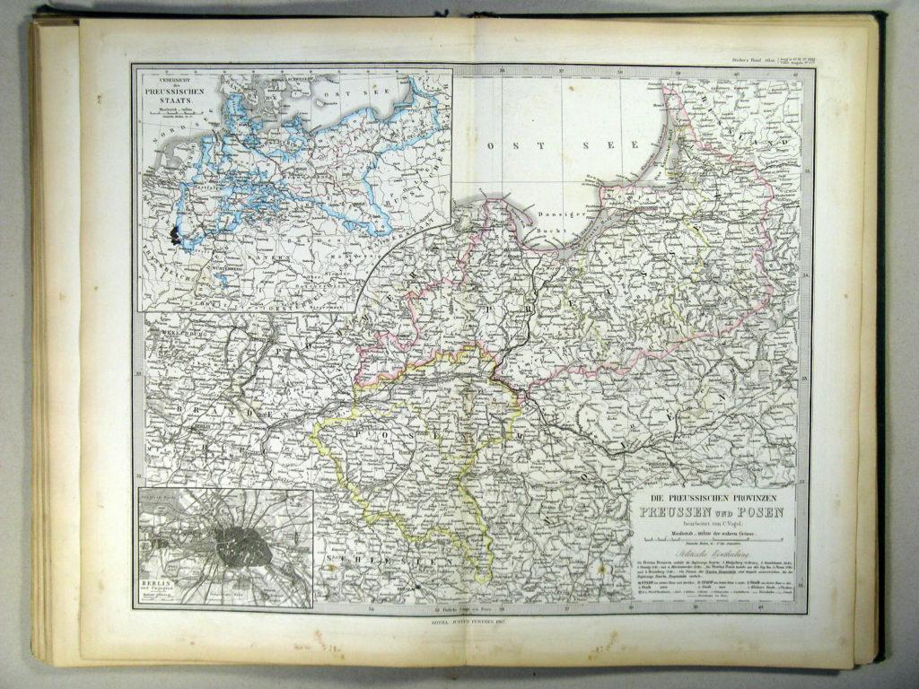 Карта Пруссии, 1867 г.