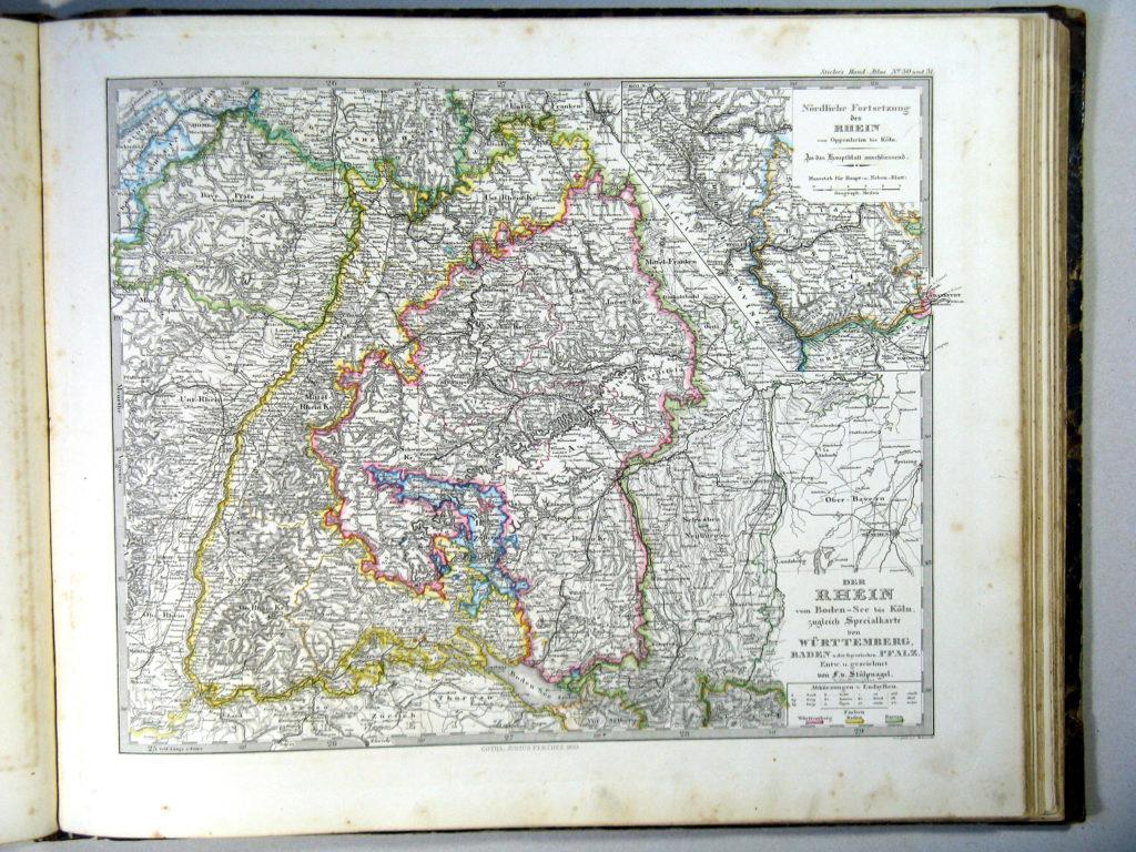 Карта Рейна, 1864 г.