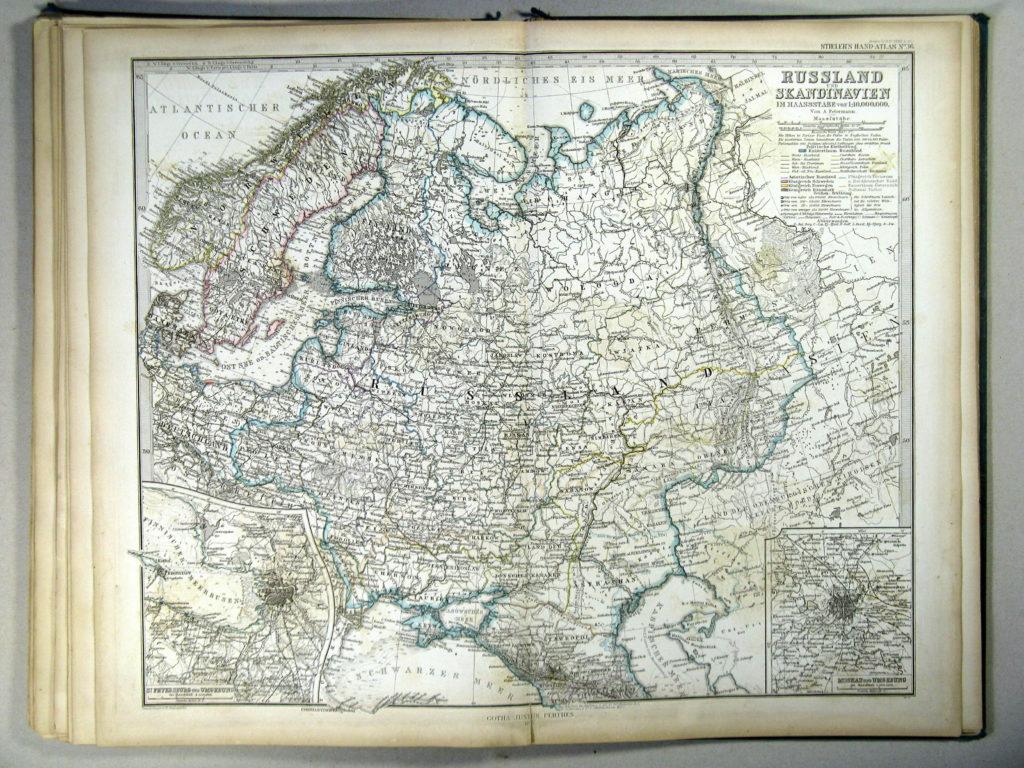 Карта России и Скандинавии, 1867 г.