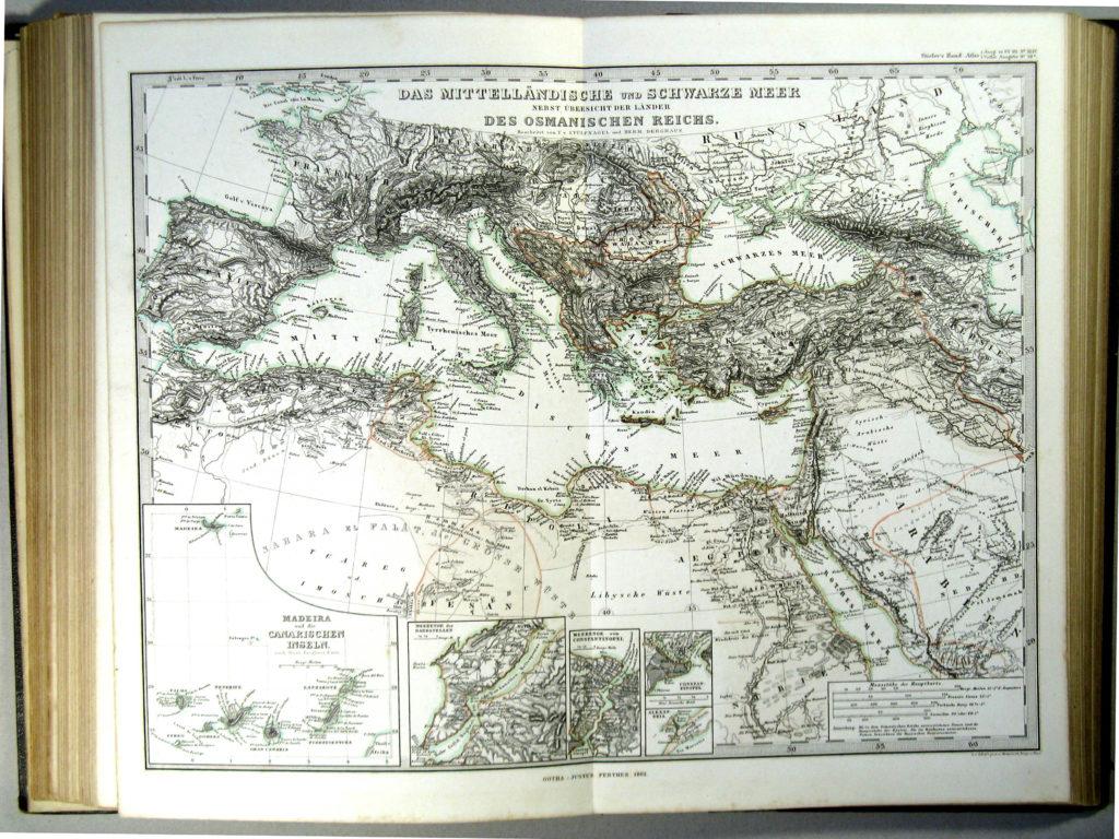 Карта Средиземноморья, 1863 г.