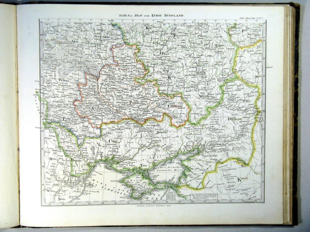 Карта России, юго-западные губернии, 1864 г.