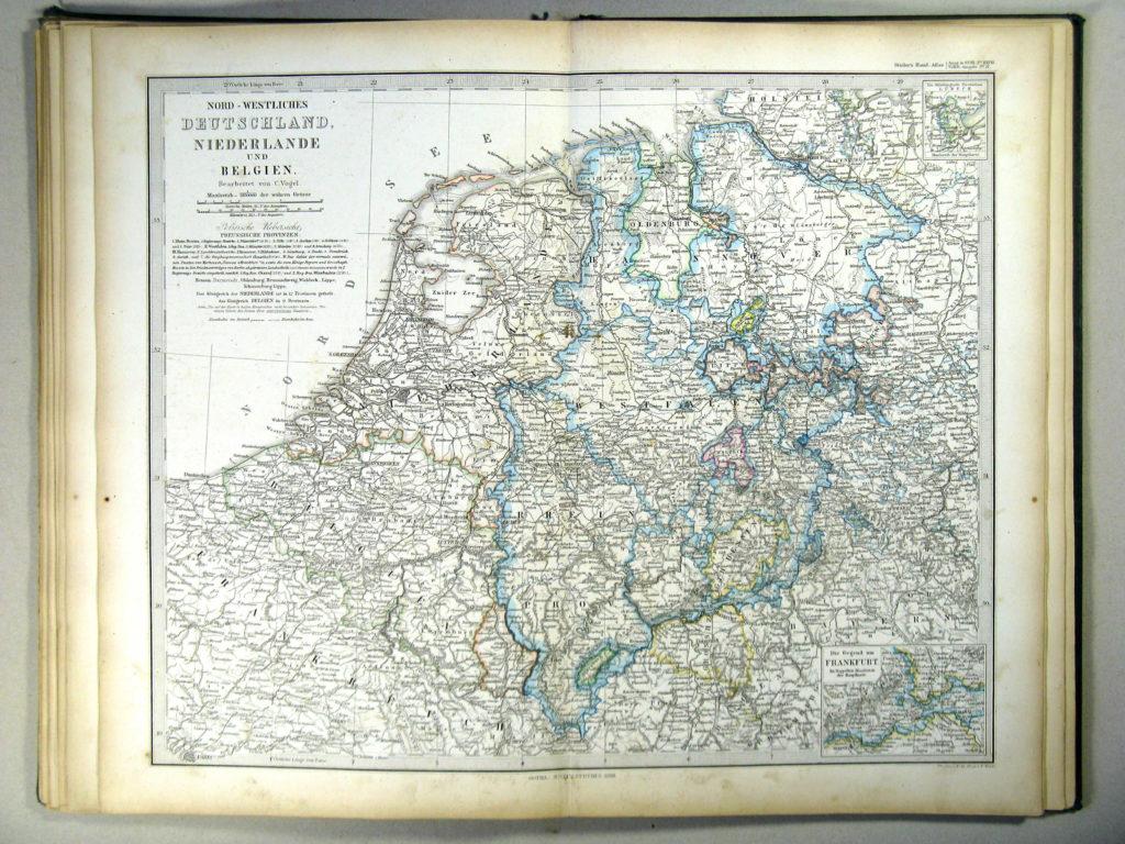 Карта северо-западной Германии, Нидерландов, Бельгии и Люксембурга, 1867 г.