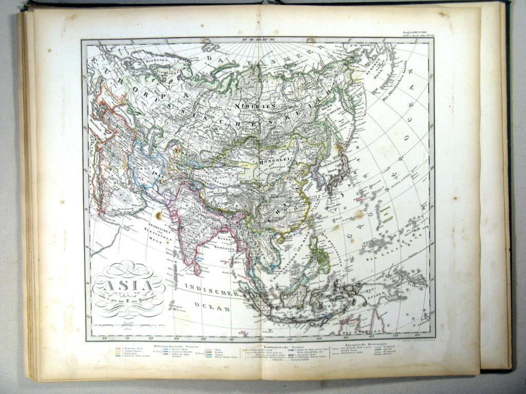 Карта Азии, 1867 г.