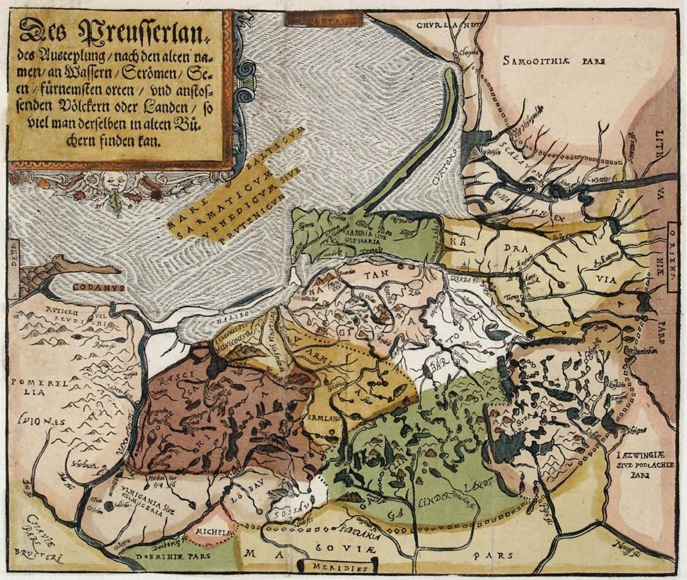 Этнографическая карта Восточной Пруссии, 1584 г.