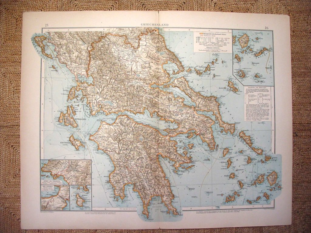 Карта Греции, 1899 г.