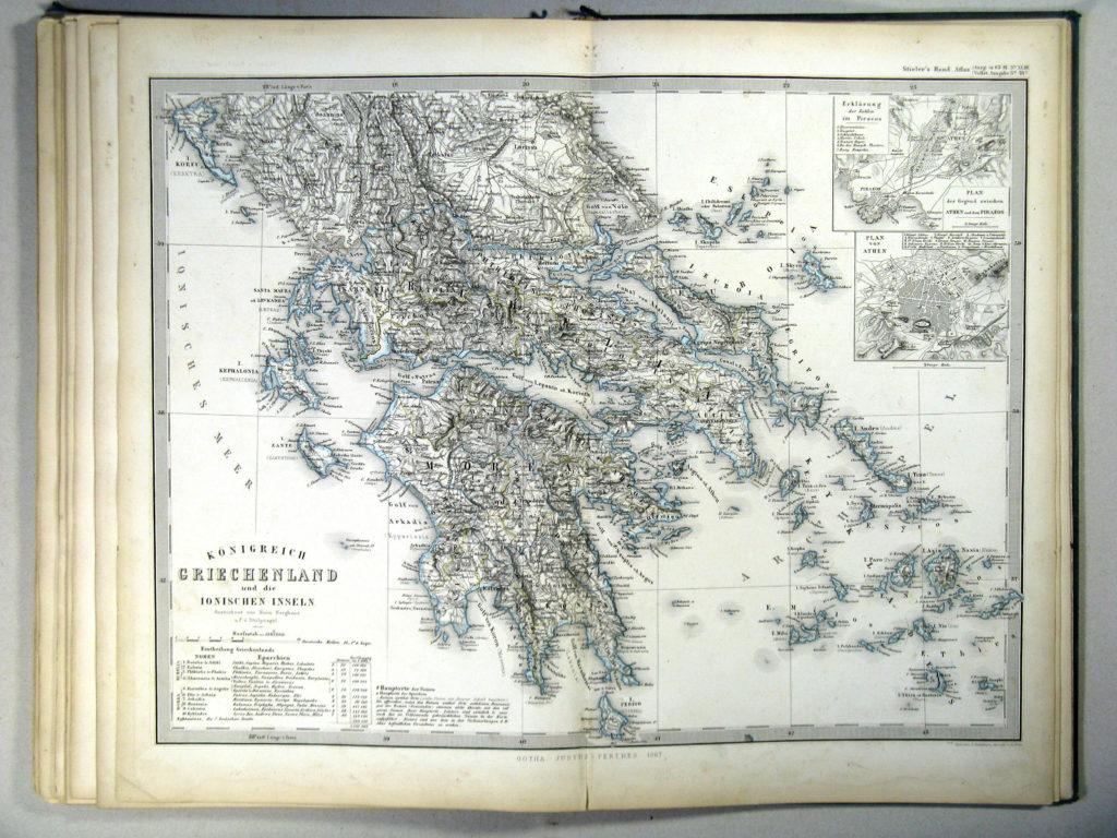 Карта Греции, 1867 г.