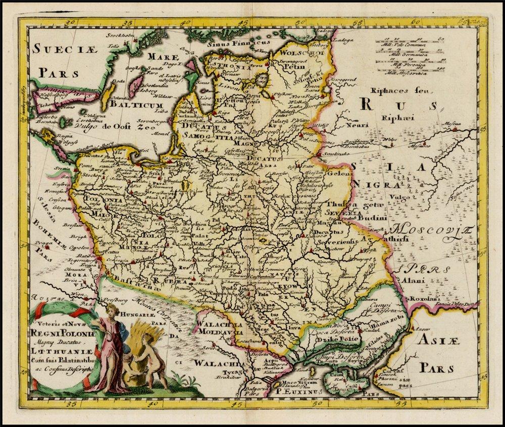 Карта Речи Посполитой, 1697 г.