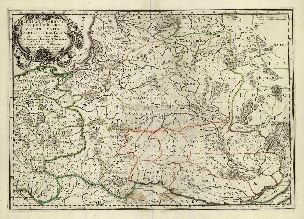 Карта Сарматии, 1655 г.