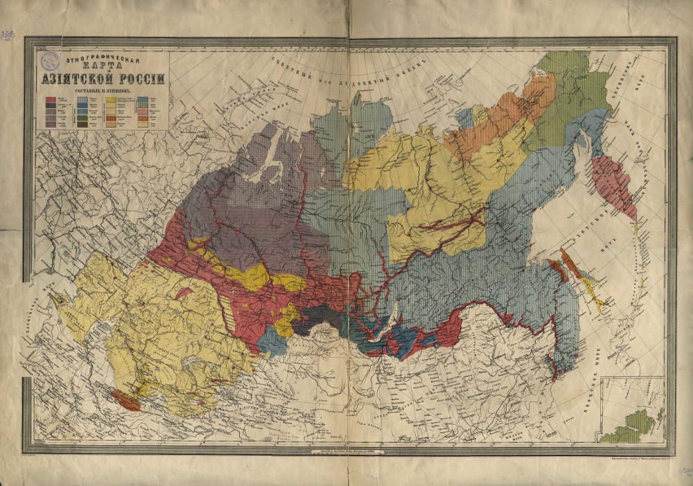 Этнографическая карта Азиатской России, 1868 г.