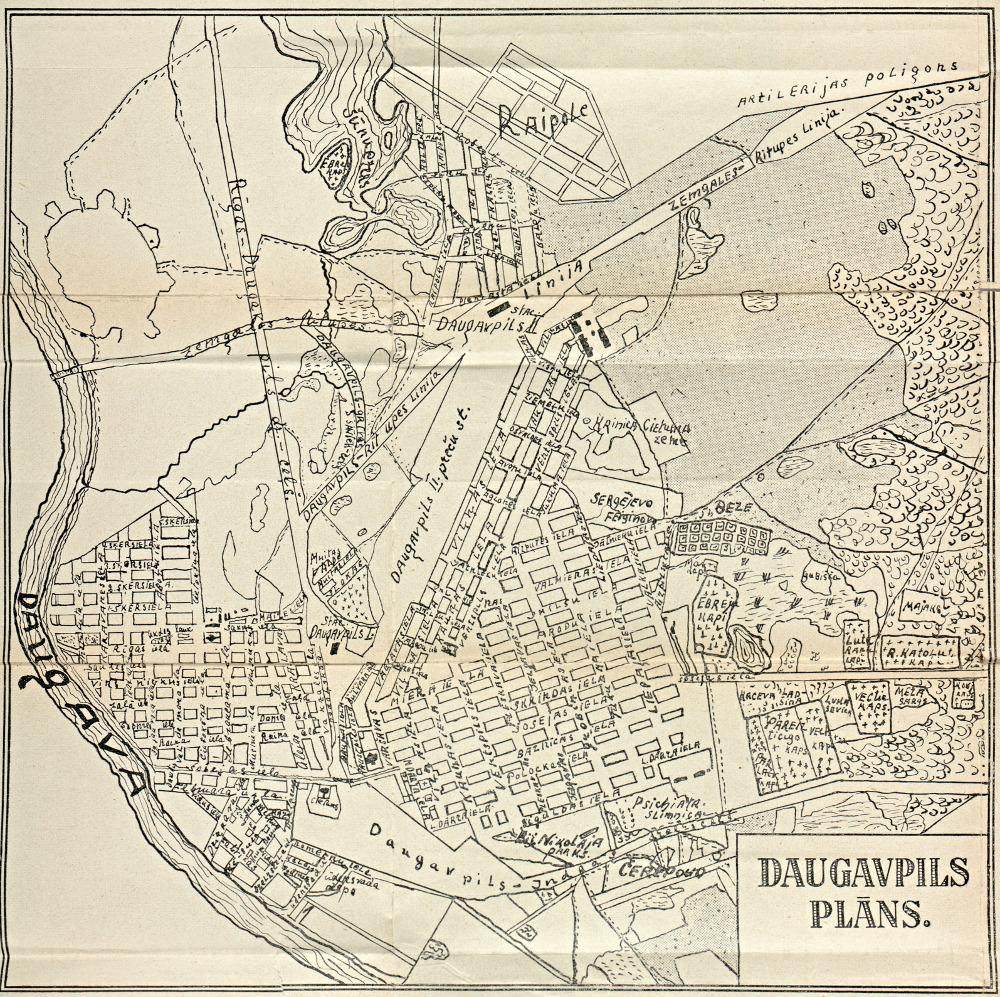 Даугавпилсский городской план с историческим описанием, 1931 г.