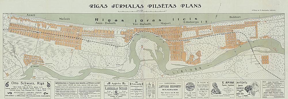 План Юрмалы, 1922 г.