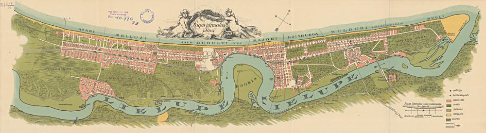 Карта Юрмалы, 1923 г.