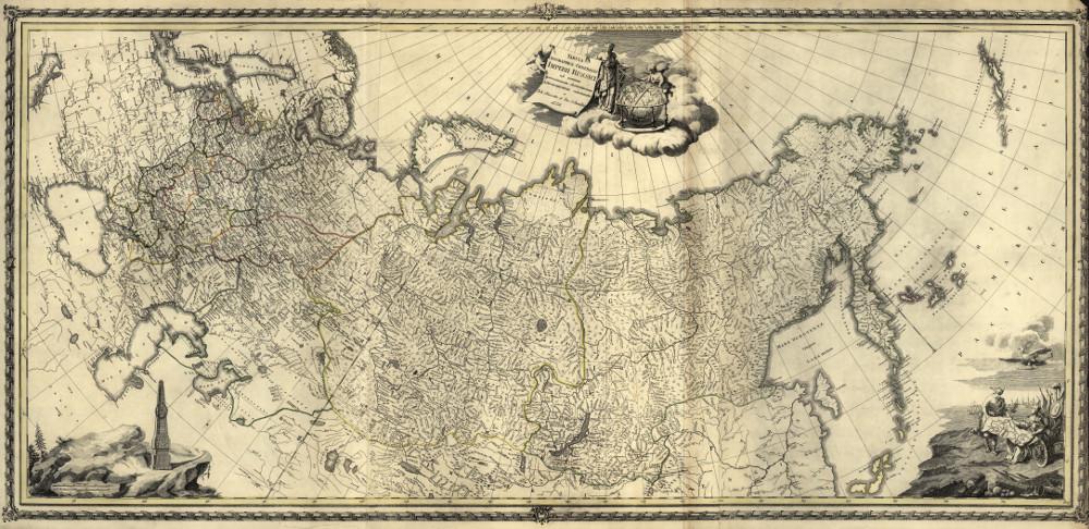 Карта России, 1776 г.