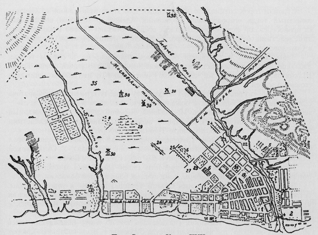 План Саратова, 1690 г.