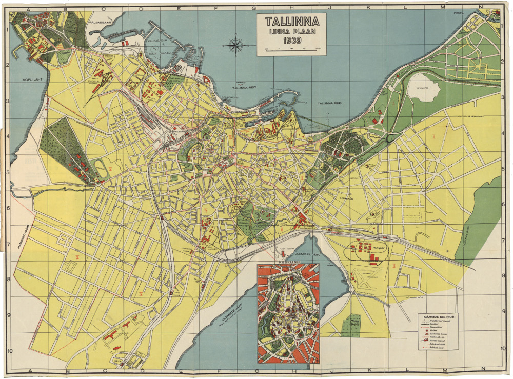 Карта Таллина, 1939 г.