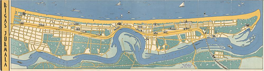 Карта Юрмалы, 1959 г.