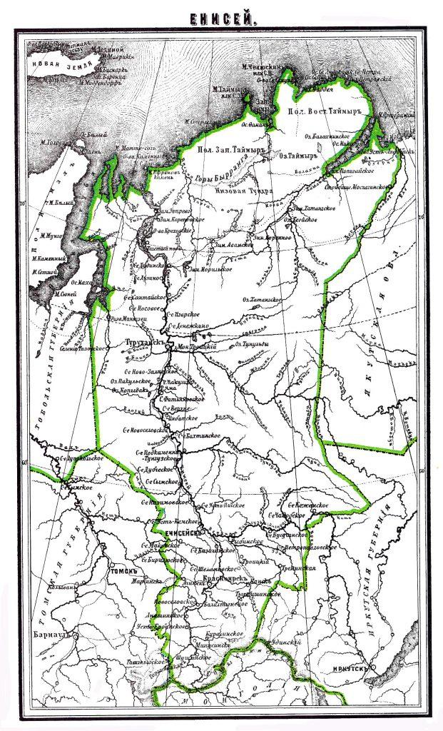 Карта Енисея, 1901 г.