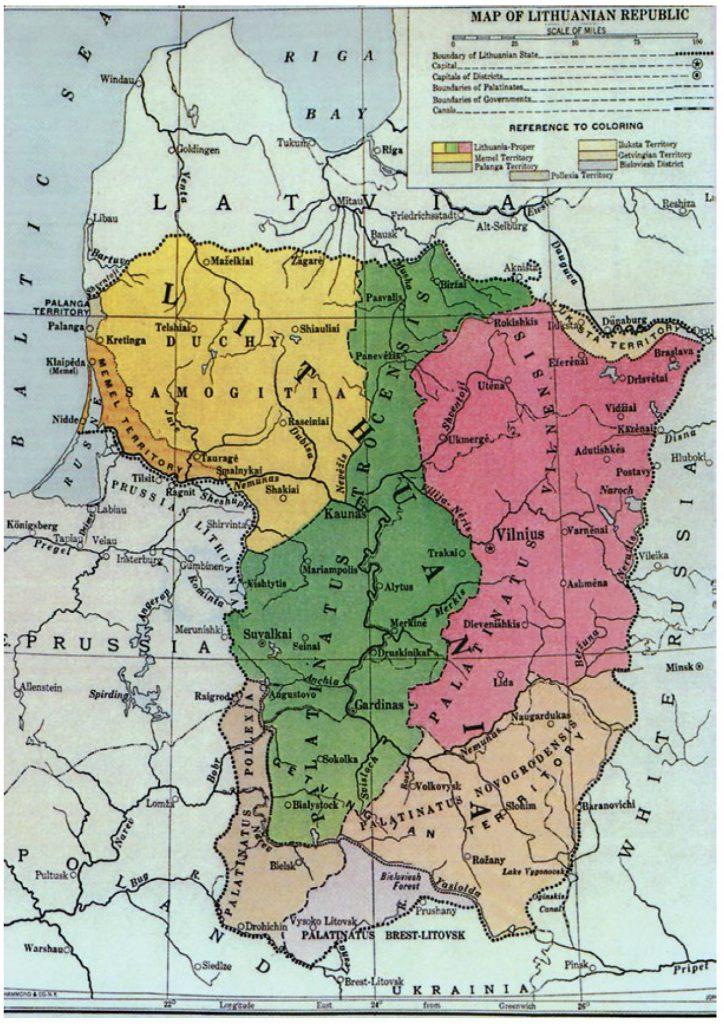 Проект границ Литвы, 1920 г.