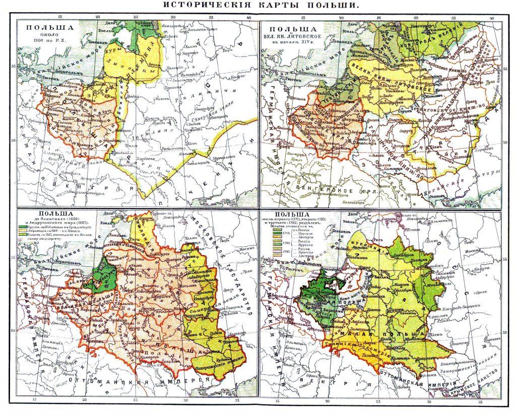 Исторические карты Польши, 1901 г.