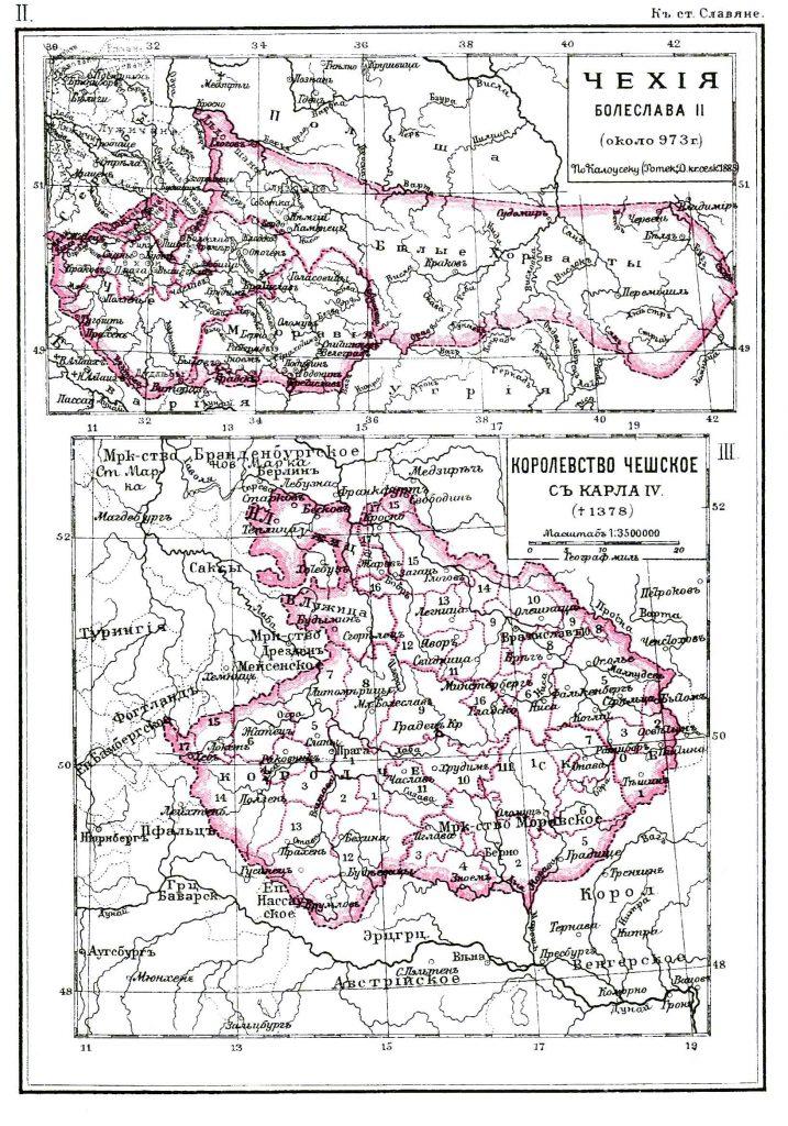 Исторические карты Чехии