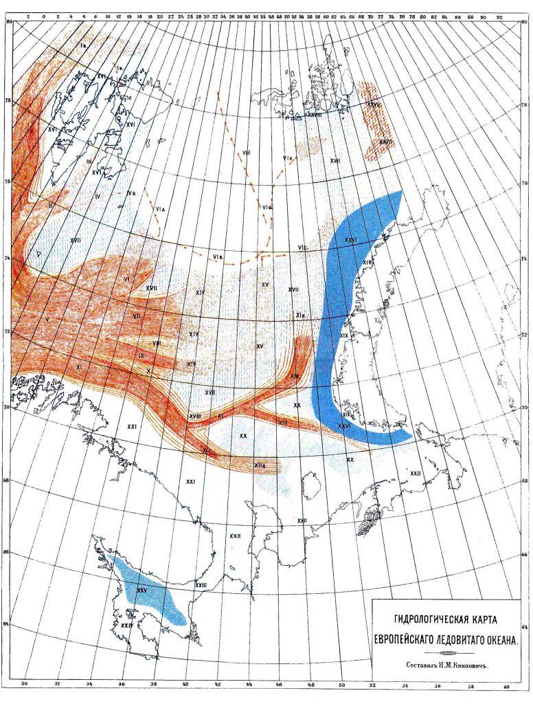 Гидрологическая карта Европейского Ледовитого океана, 1901 г.