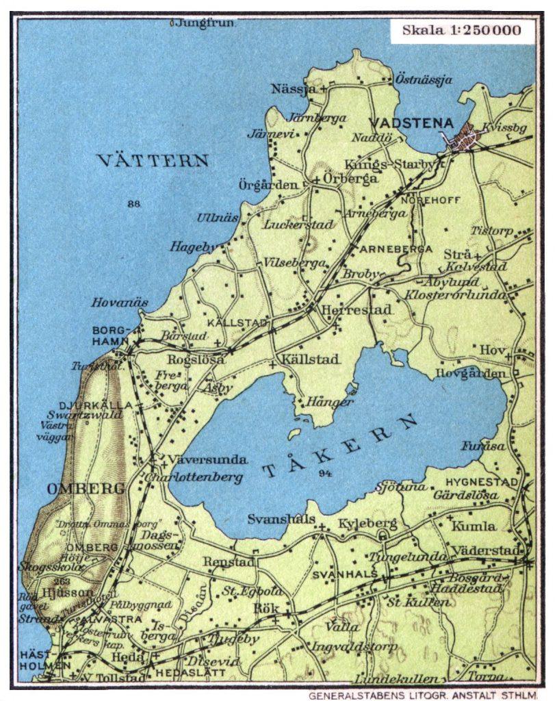 Карта озера Токерн, 1928 г.