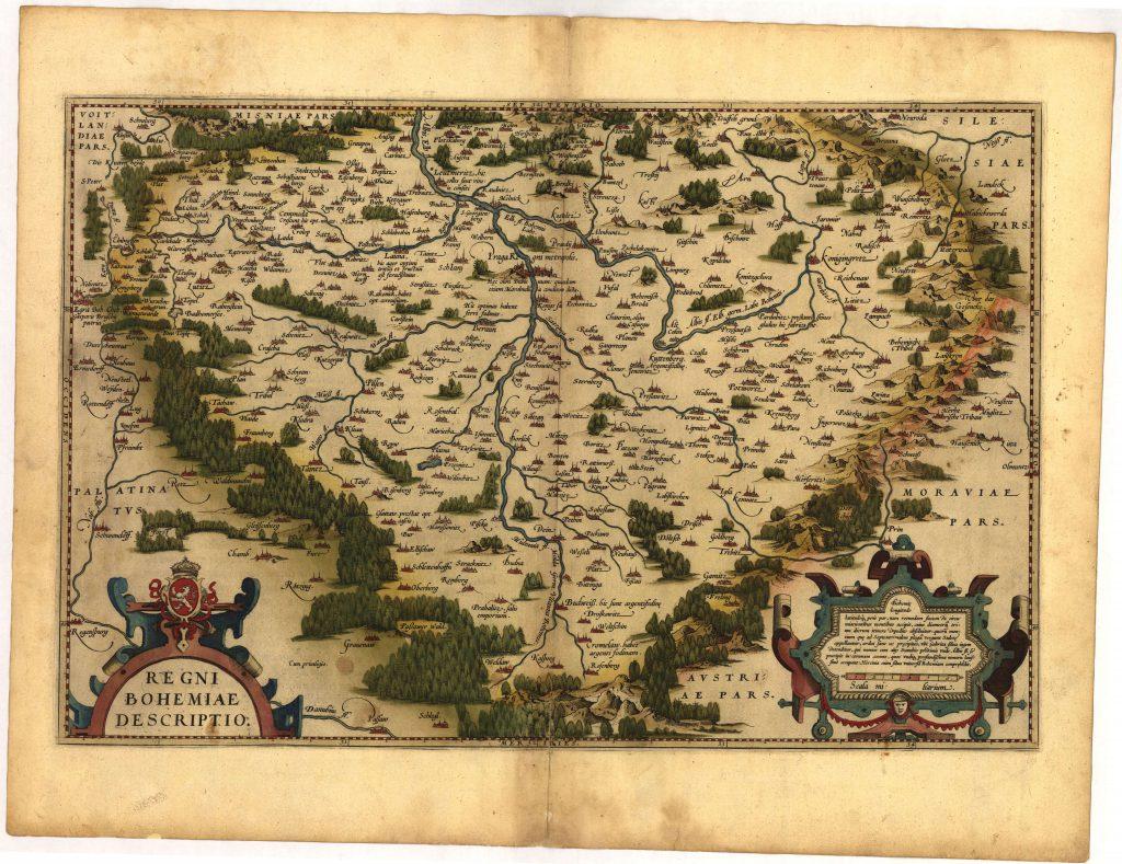 Карта Богемии, 1570 г.