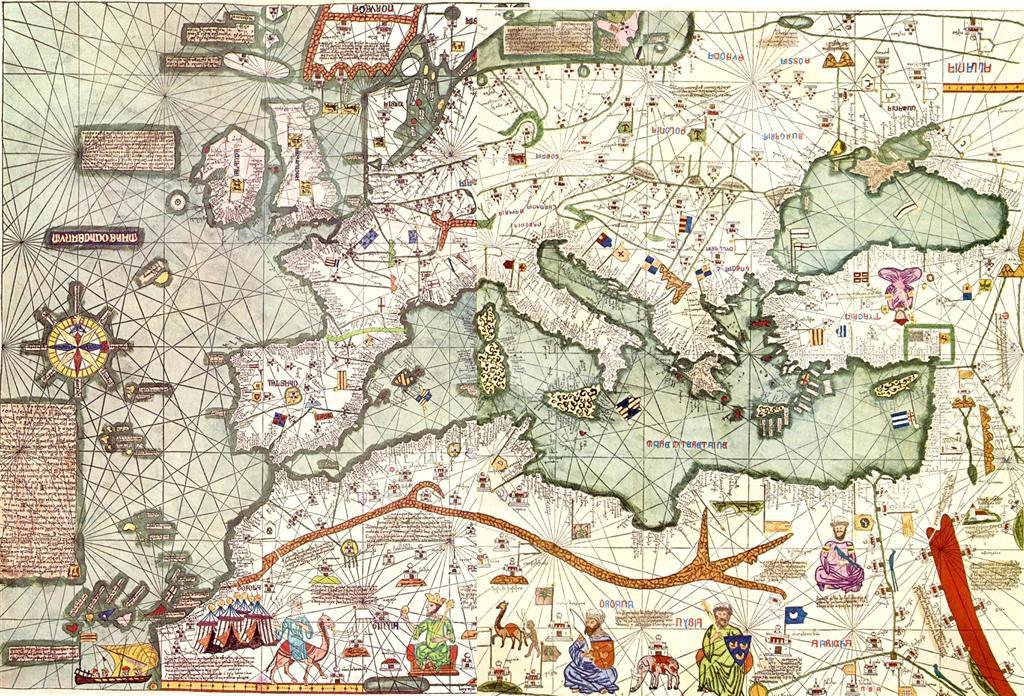 Карта Европы, 1375 г.