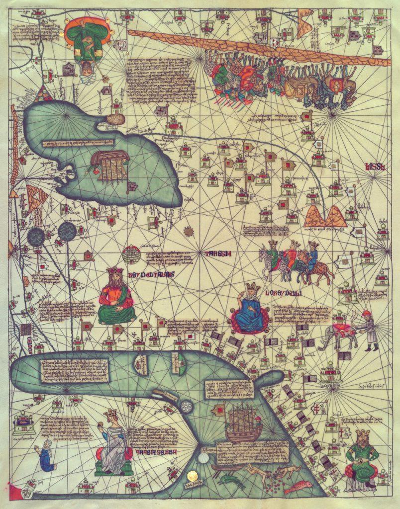 Карта Европы и Ближнего Востока, 1375 г.