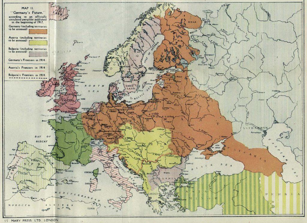 План раздела Европы после XX Первой Мировой войны