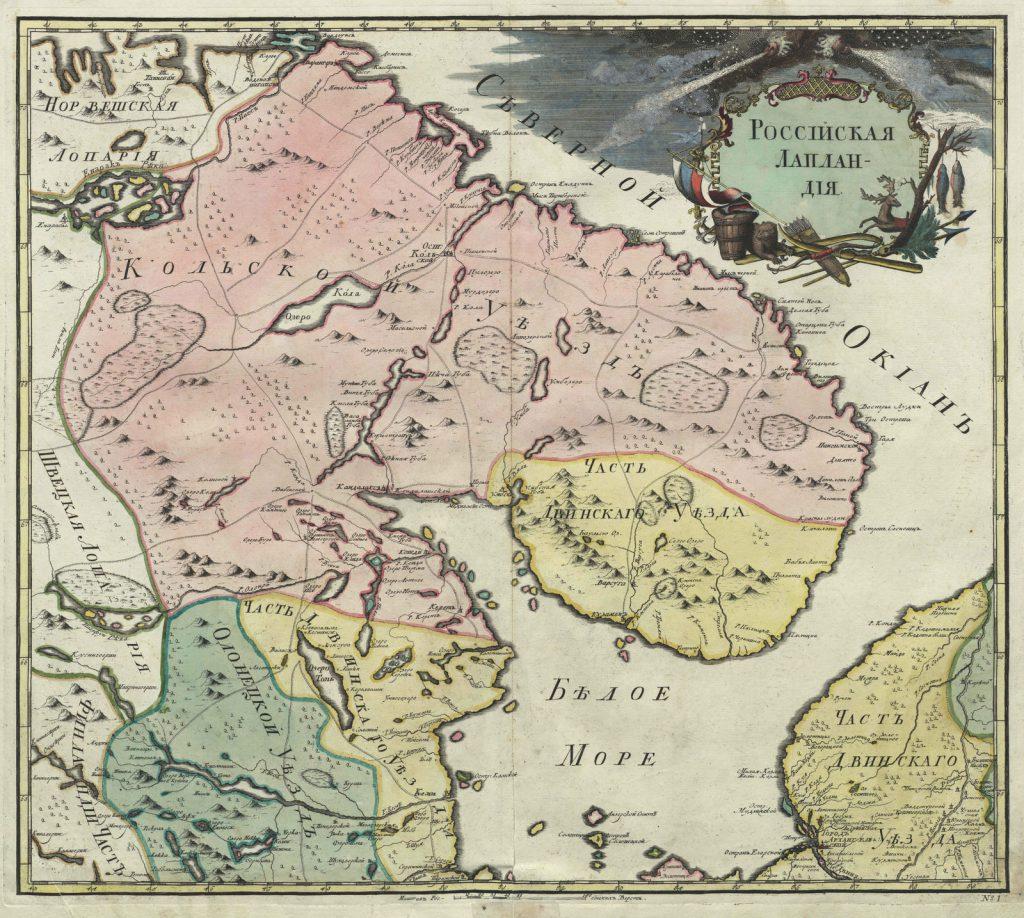 Карта Российской Лапландии, 1745 г.