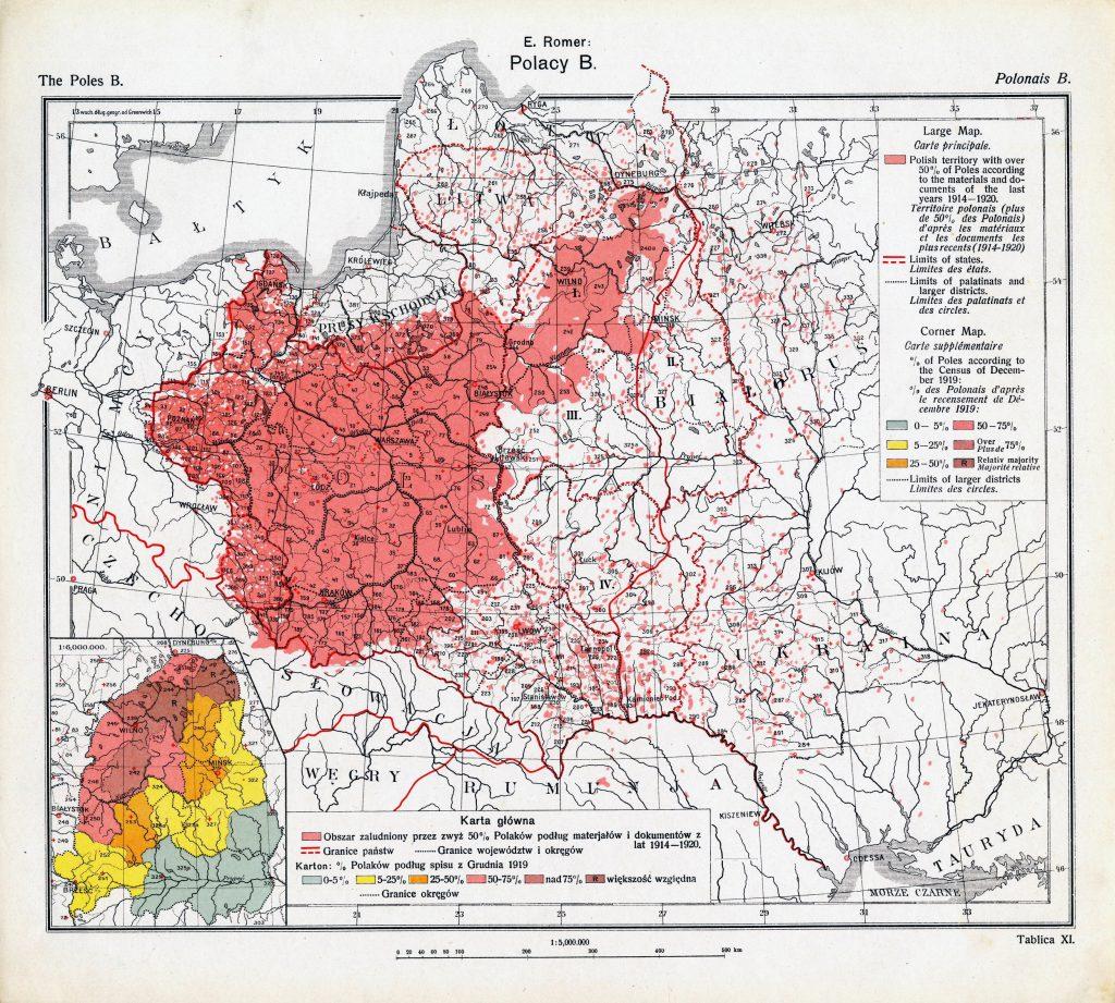 Этнографическая карта Польши, 1920 г.