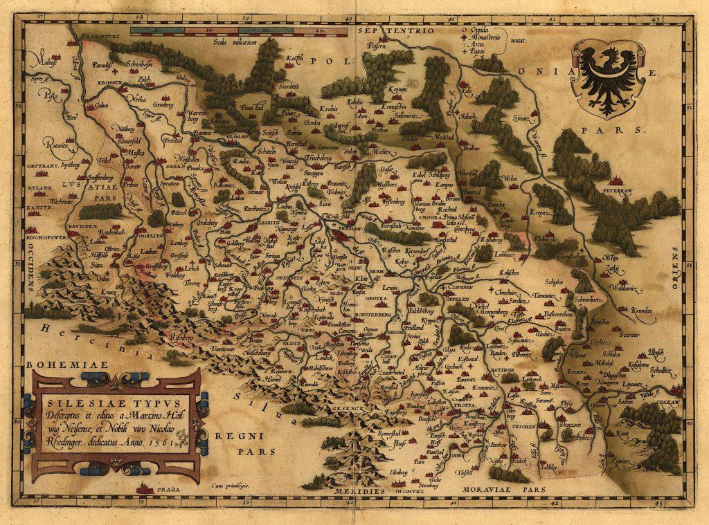 Карта Силезии, 1570 г.