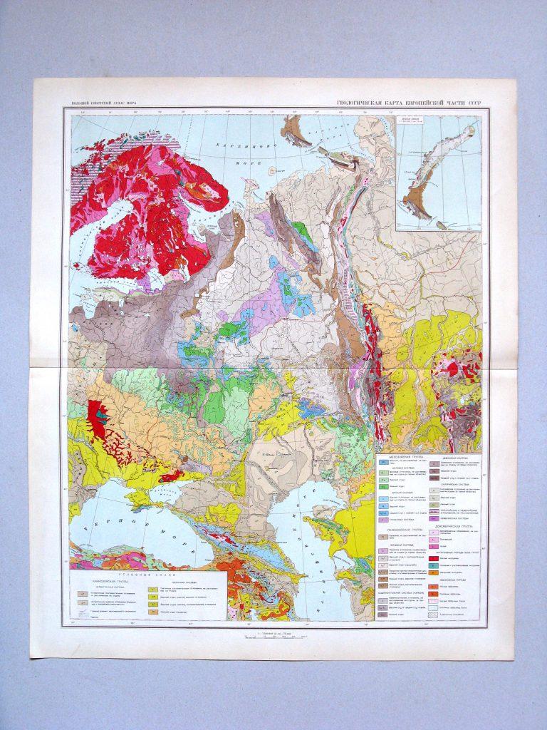 Геологическая карта европейской части СССР, 1940 г.