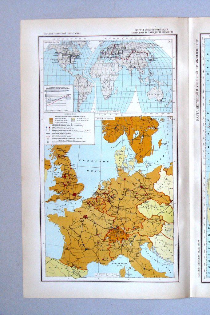Карты электрификации Западной Европы, 1940 г.