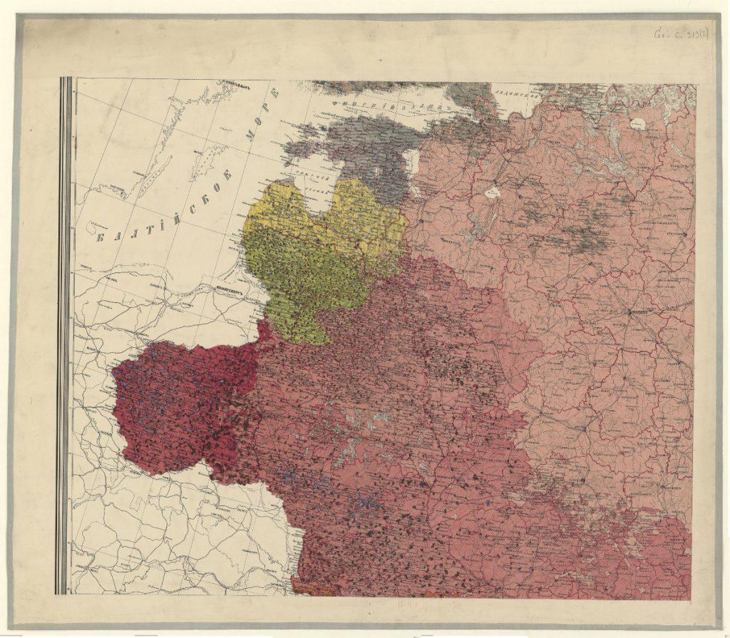 Этнографическая карта Европейской России, 1875 г.