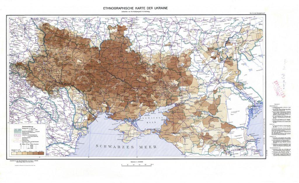Этнографическая карта Украины, 1941 г.