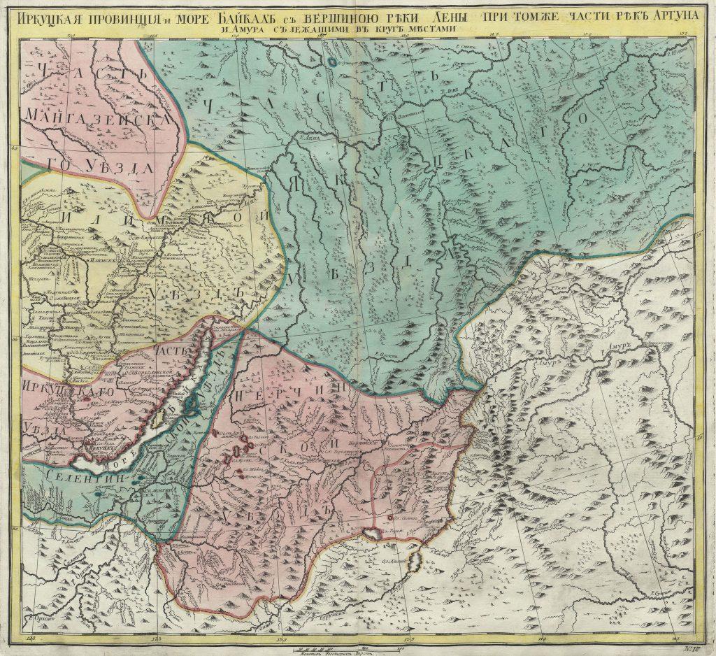 Карта Иркутской провинции, 1745 г.