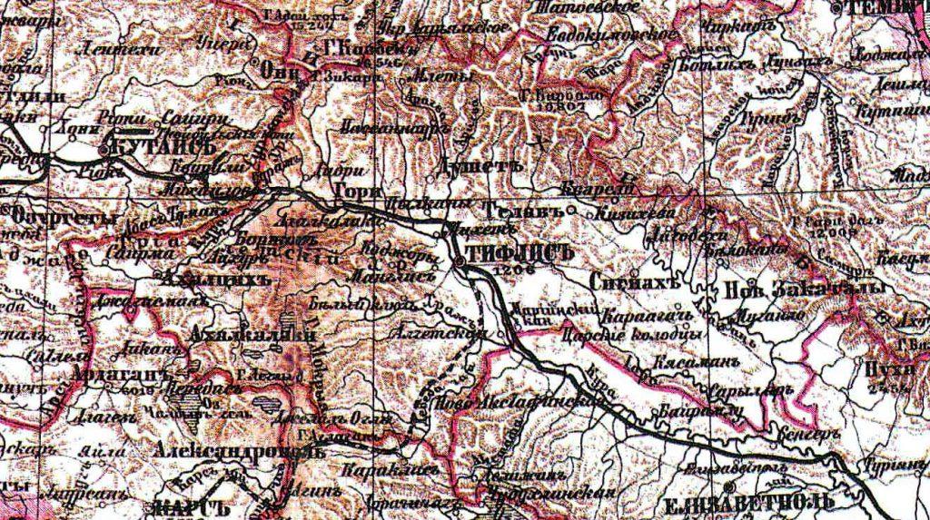 Карта Тифлисской губернии, 1860 г.
