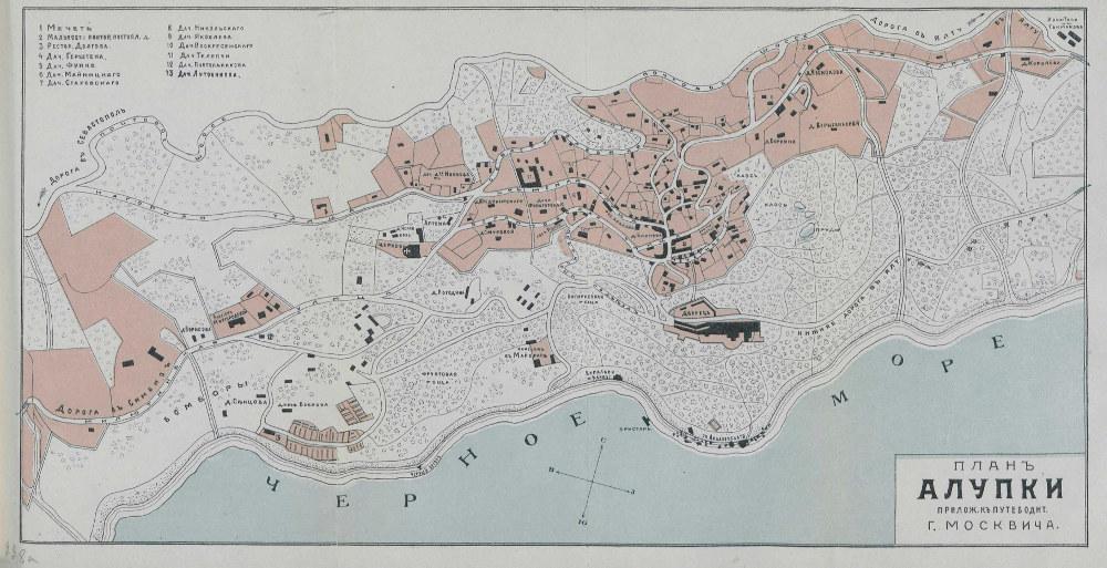 Карта Алупки, 1904 г.