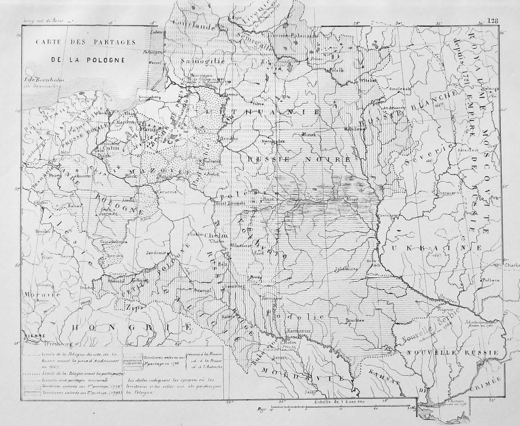Карта Польши, 1881 г.