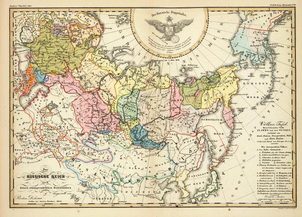 Этнографическая карта России, 1848 г.