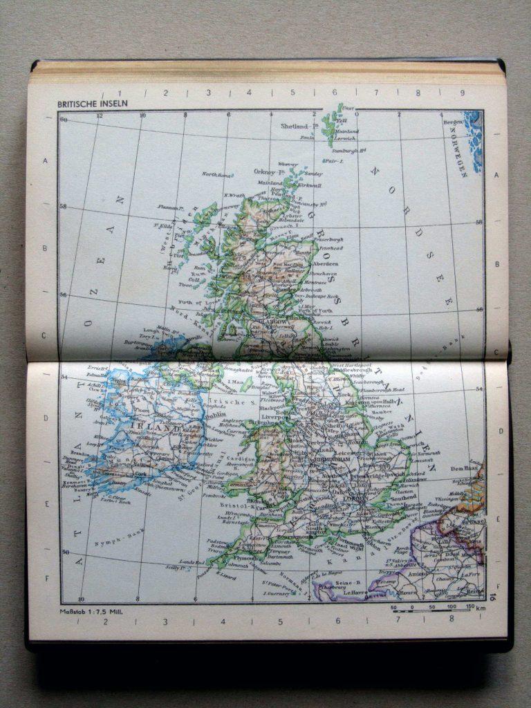 Карта Британии и Ирландии, 1967 г.