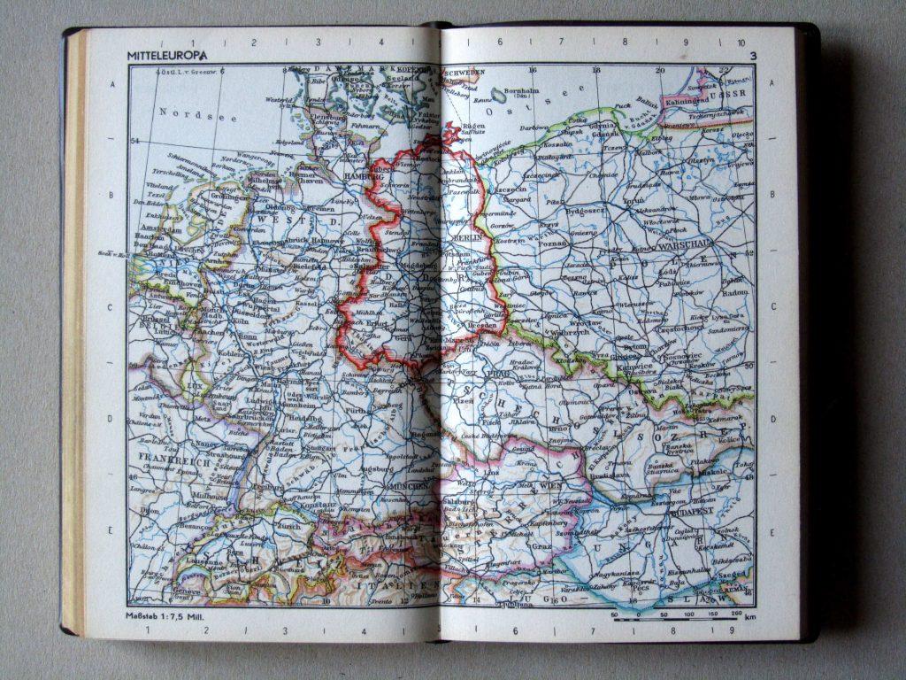 Карта Центральной Европы, 1967 г.