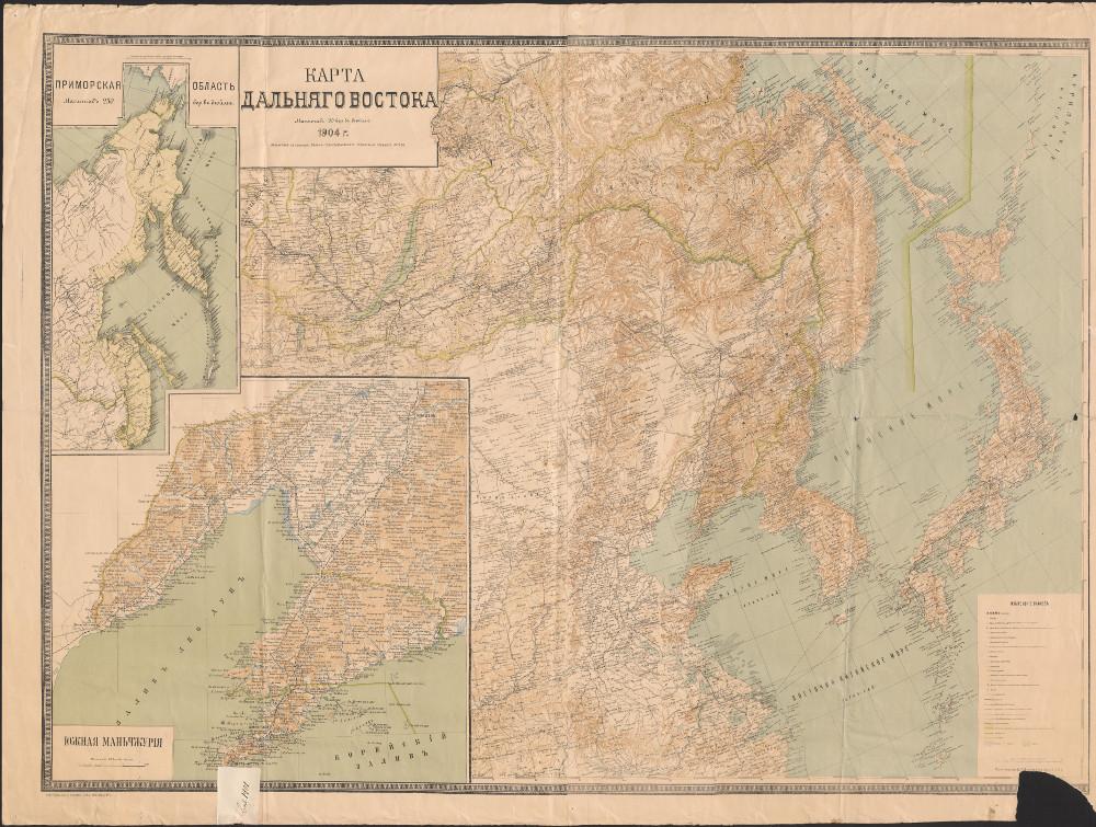 Карта Дальнего Востока, 1904 г.