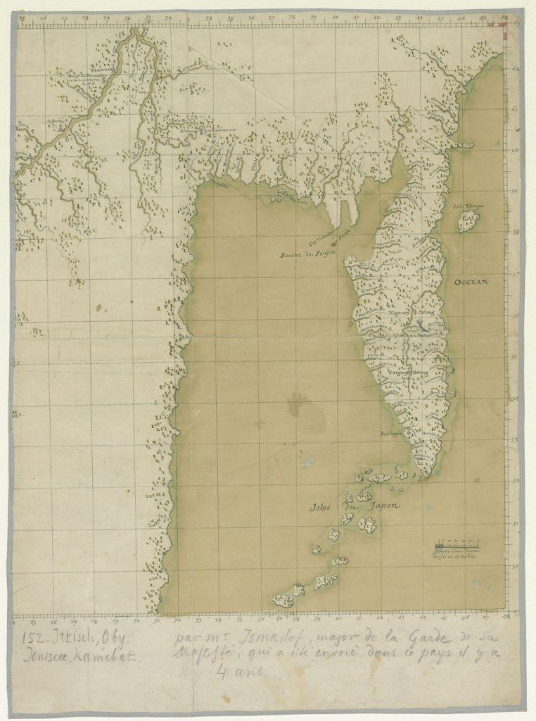 Карта Камчатки, 1722 г.